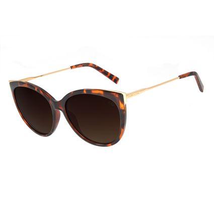 Óculos de Sol Feminino Chilli Beans Gatinho Tartaruga Polarizado OC.CL.2997-5706