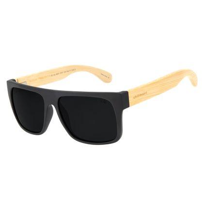 Óculos de Sol Masculino Chilli Beans Esportivo Bamboo Preto Polarizado OC.CL.3003-0101