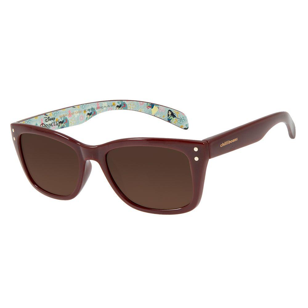 Óculos De Sol Infantil Disney Princesas Mulan Vinho OC.KD.0639-0217