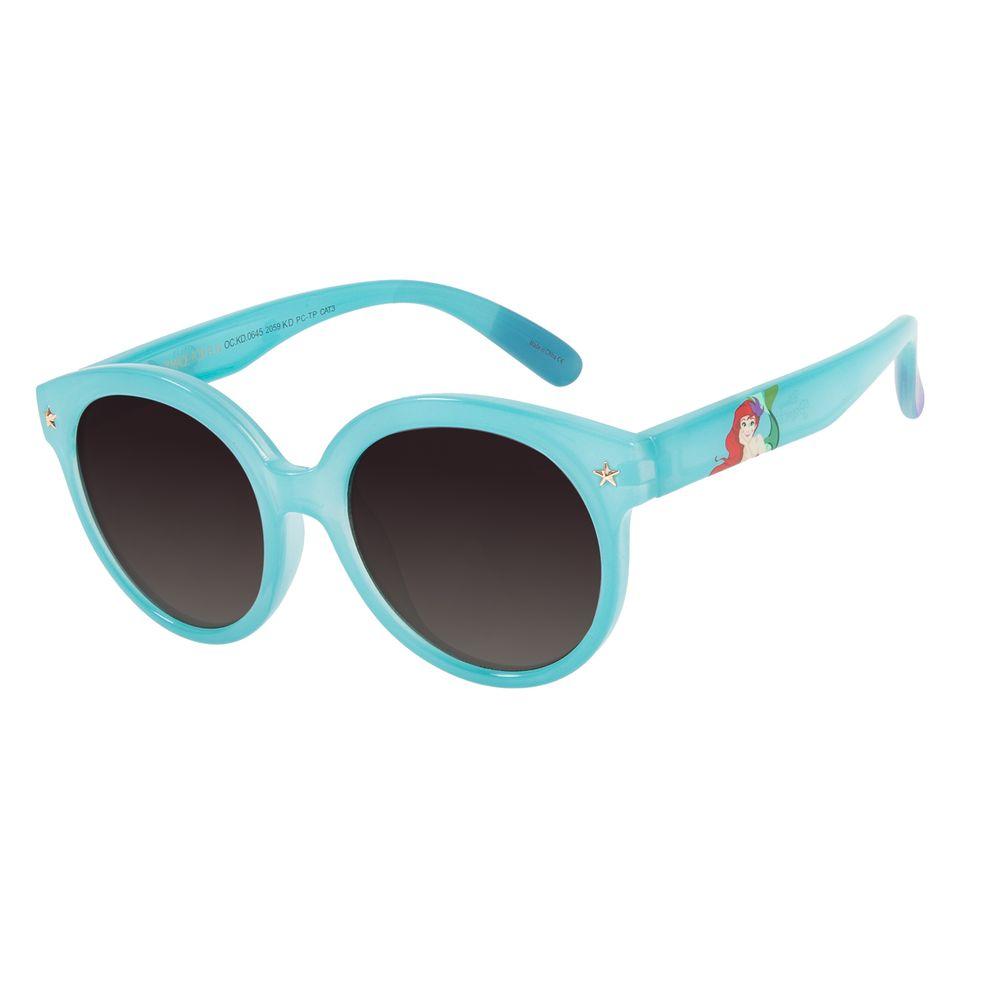 Óculos De Sol Infantil Disney Princesas Ariel Azul Claro OC.KD.0645-2059