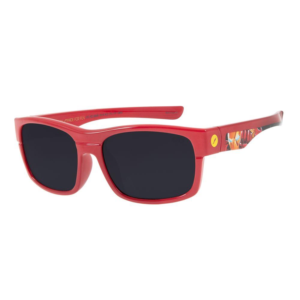 Óculos De Sol Infantil Disney Vingadores Homem de Ferro Quadrado Vermelho OC.KD.0646-0516