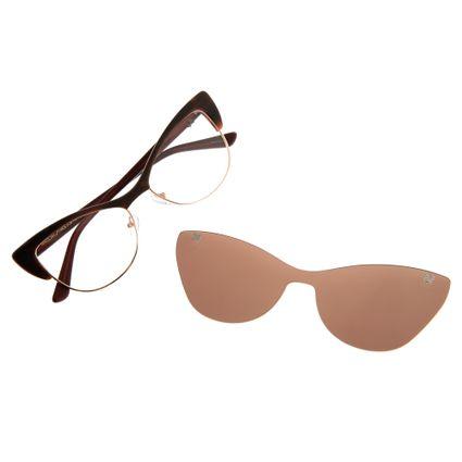 Armação Para Óculos De Grau Feminino Chilli Beans Gatinho Vinho LV.MU.0157-0217
