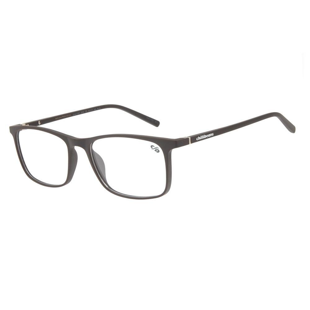 Armação Para Óculos De Grau Masculino Chilli Beans Retangular Marrom LV.IJ.0107-0202