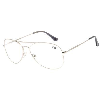 Armação Para Óculos de Grau Feminino Chilli Beans Aviador Prata LV.MT.0404-0707