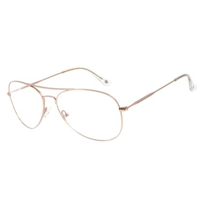 Armação Para Óculos de Grau Feminino Chilli Beans Aviador Cobre LV.MT.0404-3939