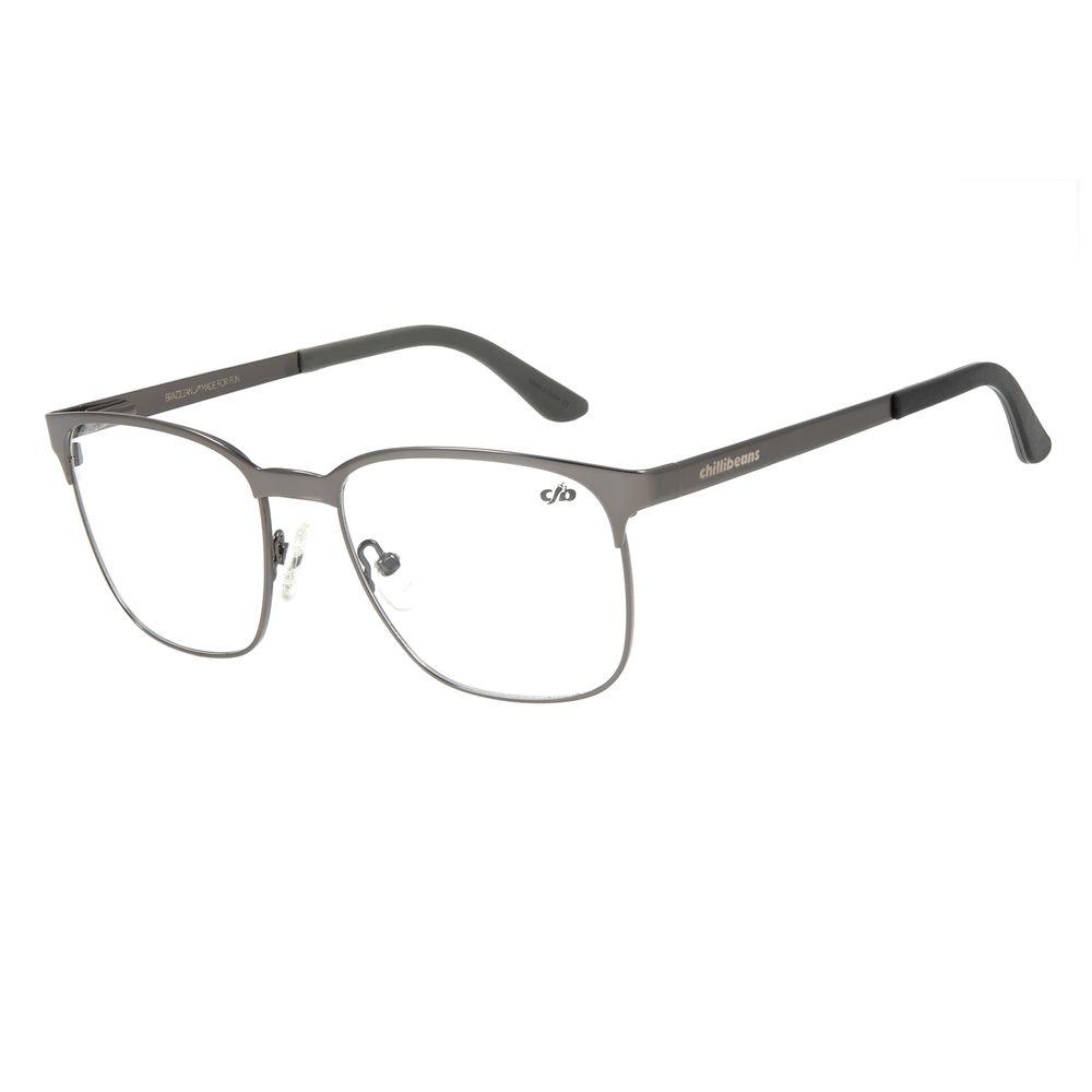 Armação Para Óculos De Grau Masculino Chilli Beans Jazz Ônix LV.MT.0405-2222