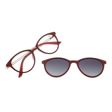 Armação Para Óculos de Grau Feminino Chilli Beans Multi Gatinho Vinho Polarizado LV.MU.0369-2017