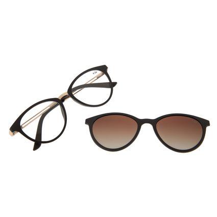 Armação Para Óculos de Grau Feminino Chilli Beans Multi Gatinho Marrom Polarizado LV.MU.0369-5702