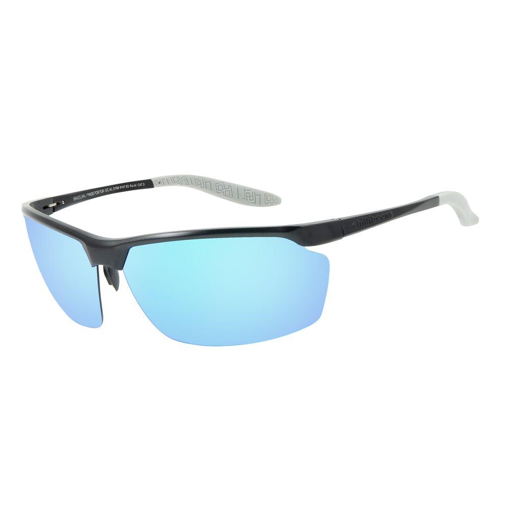 Óculos de Sol Masculino Chilli Beans Flutuante Marrom Escuro Polarizado OC.AL.0194-9147