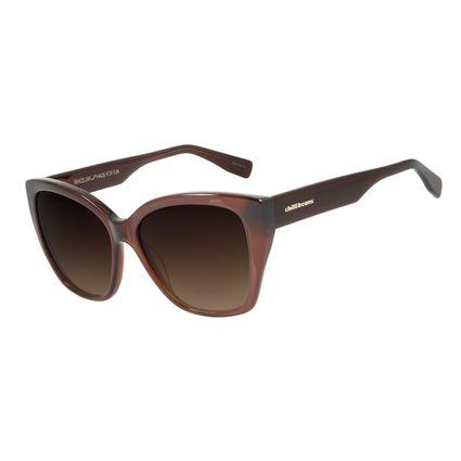 Óculos de Sol Feminino Chilli Beans Quadrado Trend Marrom OC.CL.2993-5702