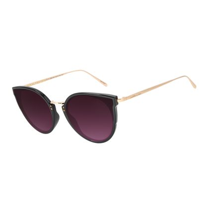 Óculos de Sol Feminino Chilli Beans Gatinho Metal Preto OC.CL.2996-2001