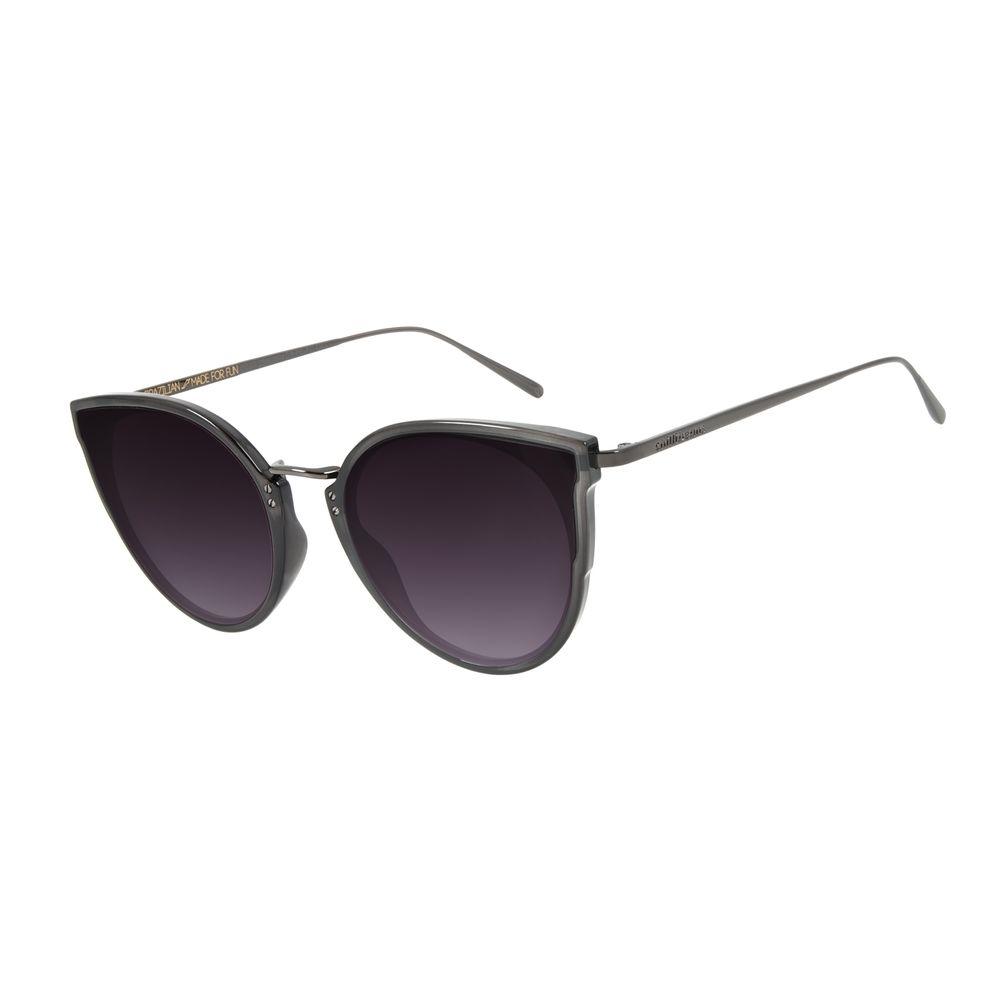 Óculos de Sol Feminino Chilli Beans Gatinho Metal Preto Brilho OC.CL.2996-2030