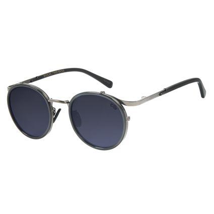 Óculos de Sol Unissex BLK Redondo Metal Ônix OC.MT.2637-0122