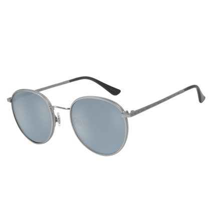Óculos de Sol Redondo Unissex Blk Metal Life Flash OC.MT.2643-0022