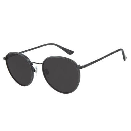 Óculos de Sol Redondo Unissex Blk Metal Life Fosco OC.MT.2643-0131