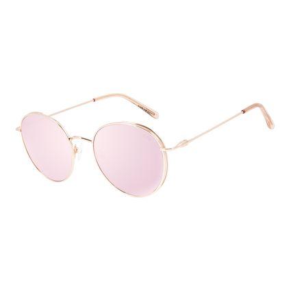 Óculos de Sol Feminino Chilli Beans Redondo Banhado A Ouro Rosê OC.MT.2827-9595