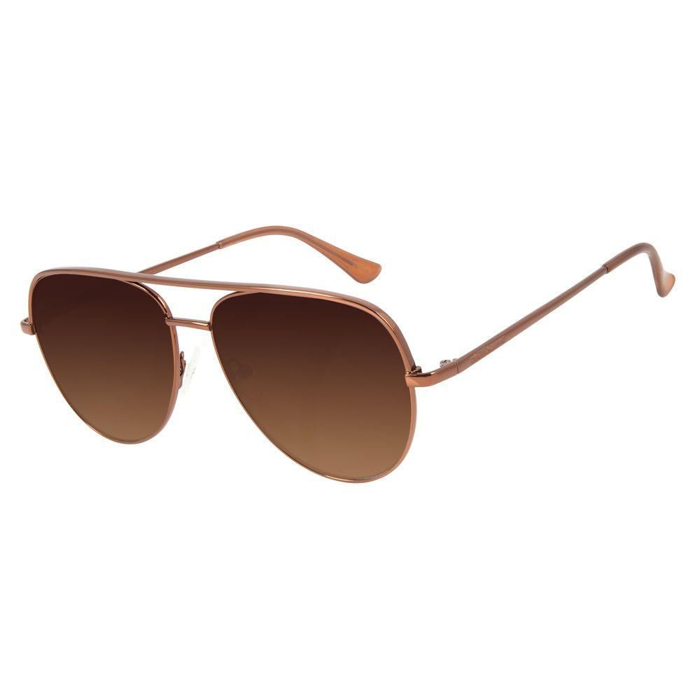 Óculos de Sol Unissex Chilli Beans Aviador Marrom OC.MT.2836-5702