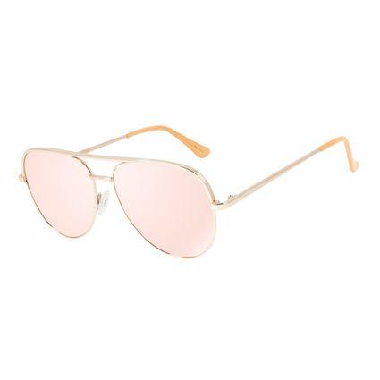 Óculos de Sol Unissex Chilli Beans Aviador Rosê OC.MT.2836-9595