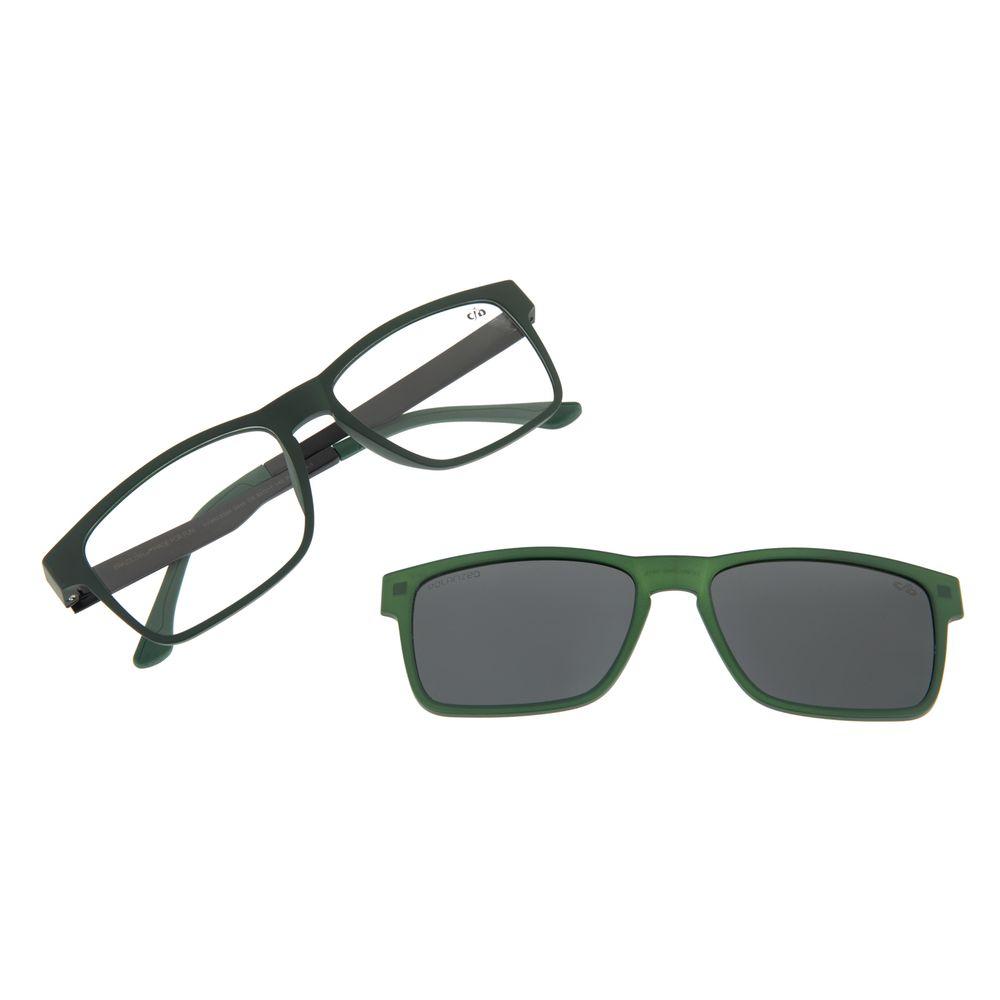Armação Para Óculos De Grau Masculino Multi Retangular Verde Polarizado LV.MU.0368-0415