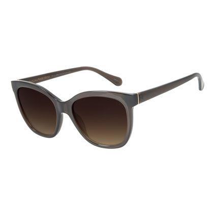 Óculos de Sol Feminino Chilli Beans Clássico Quadrado Marrom OC.CL.2698-5702