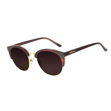 Óculos de Sol Feminino Chilli Beans Redondo Authentic Marrom Polarizado OC.CL.2951-5702
