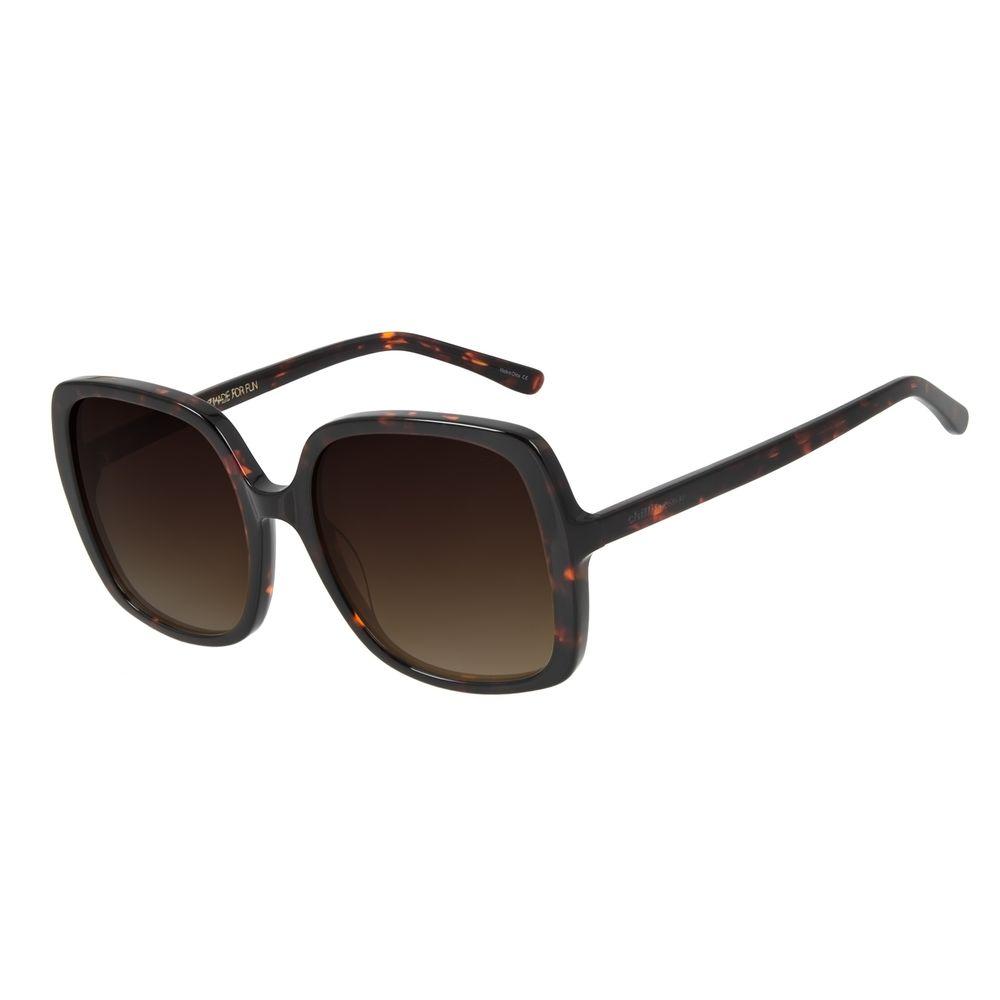 Óculos de Sol Feminino Chilli Beans Quadrado 70's Marrom Tartaruga OC.CL.2994-5706