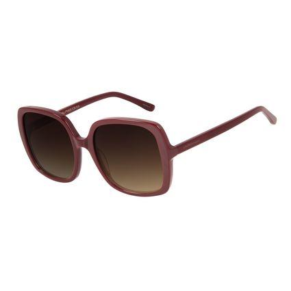 Óculos de Sol Feminino Chilli Beans Quadrado 70's Vinho OC.CL.2994-5717
