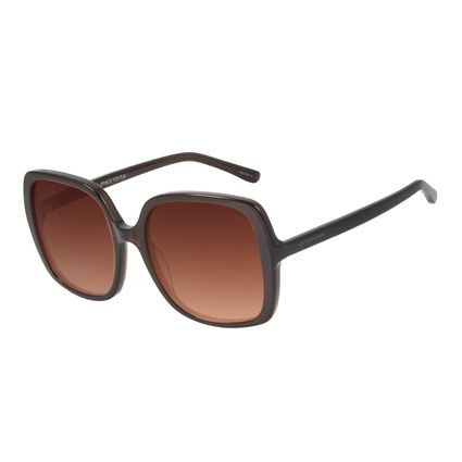 Óculos de Sol Feminino Chilli Beans Quadrado 70's Marrom Escuro OC.CL.2994-5747
