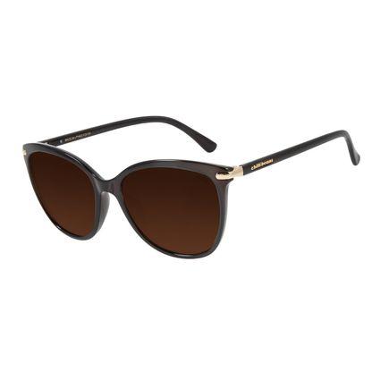 Óculos de Sol Feminino Chilli Beans Redondo Cristal Marrom Escuro OC.CL.3002-0247