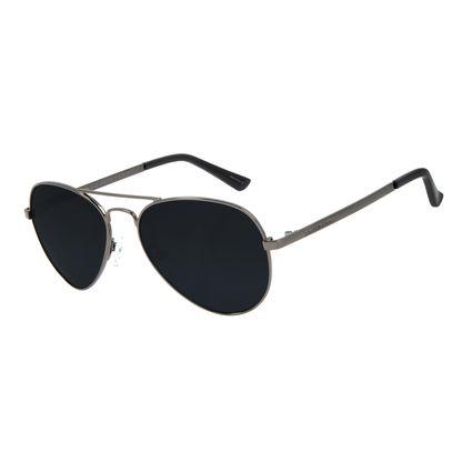 Óculos de Sol Unissex Chilli Beans Aviador Clássico Ônix OC.MT.2766-0122