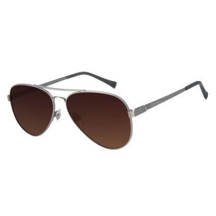 Óculos de Sol Unissex Chilli Beans Aviador Classic Polarizado Ônix OC.MT.2856-5722