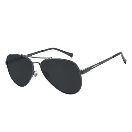Óculos de Sol Unissex Chilli Beans Aviador Classic Polarizado Preto OC.MT.2856-0101