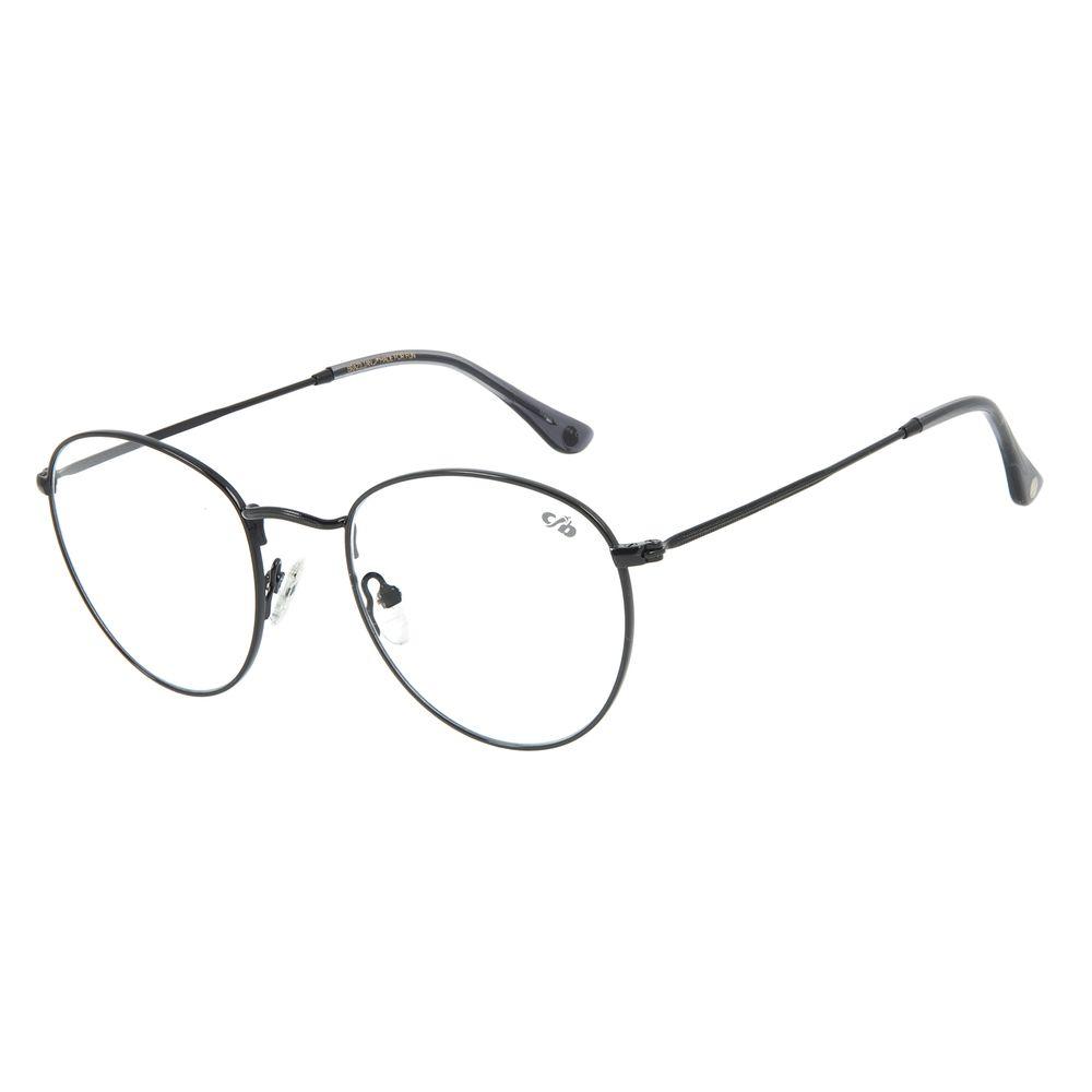 Armação Para Óculos De Grau Unissex Chilli Beans Redondo Metal Preto LV.MT.0304-0130