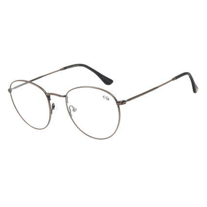 Armação Para Óculos De Grau Unissex Chilli Beans Redondo Metal Ouro Velho LV.MT.0304-6767