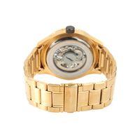 Relógio Automático Masculino Chilli Beans Metal Escovado Dourado RE.MT.1035-2121.2