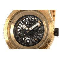 Relógio Automático Masculino Chilli Beans Metal Escovado Dourado RE.MT.1035-2121.5