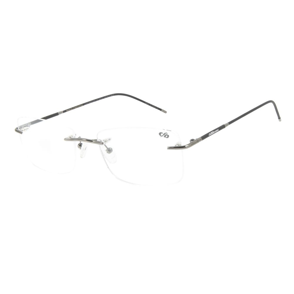 Armação Para Óculos de Grau Masculino Chilli Beans Titânio 3 Peças Ônix LV.MT.0426-2222