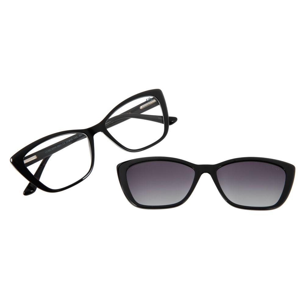 Armação Para Óculos de Grau Feminino Chilli Beans Multi Gatinho Polarizado Preto LV.MU.0374-2001