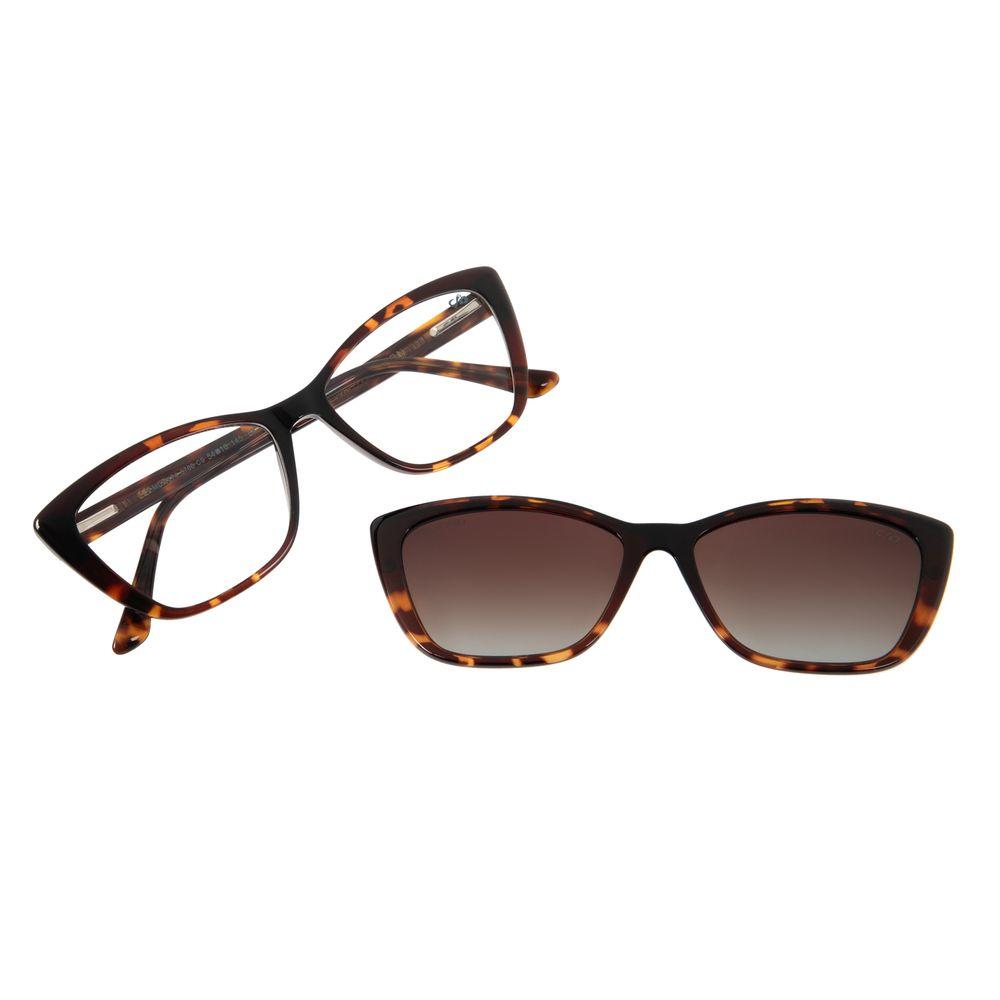 Armação Para Óculos de Grau Feminino Chilli Beans Multi Gatinho Polarizado Tartaruga LV.MU.0374-5706