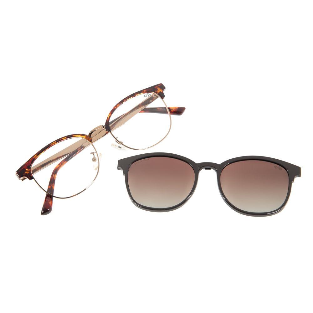 Armação Para Óculos de Grau Feminino Chilli Beans Multi Jazz Marrom LV.MU.0385-5702