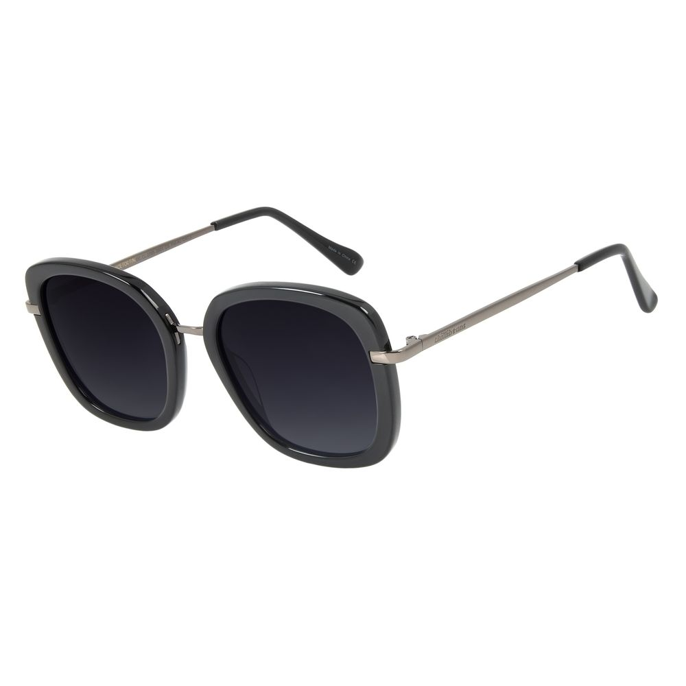 Óculos De Sol Feminino Chilli Beans Fashion Preto Polarizado OC.CL.2785-2001