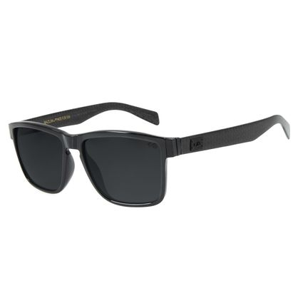 Óculos de Sol Masculino Chilli Beans Essential Quadrado Preto Brilho Polarizado OC.CL.2981-0130