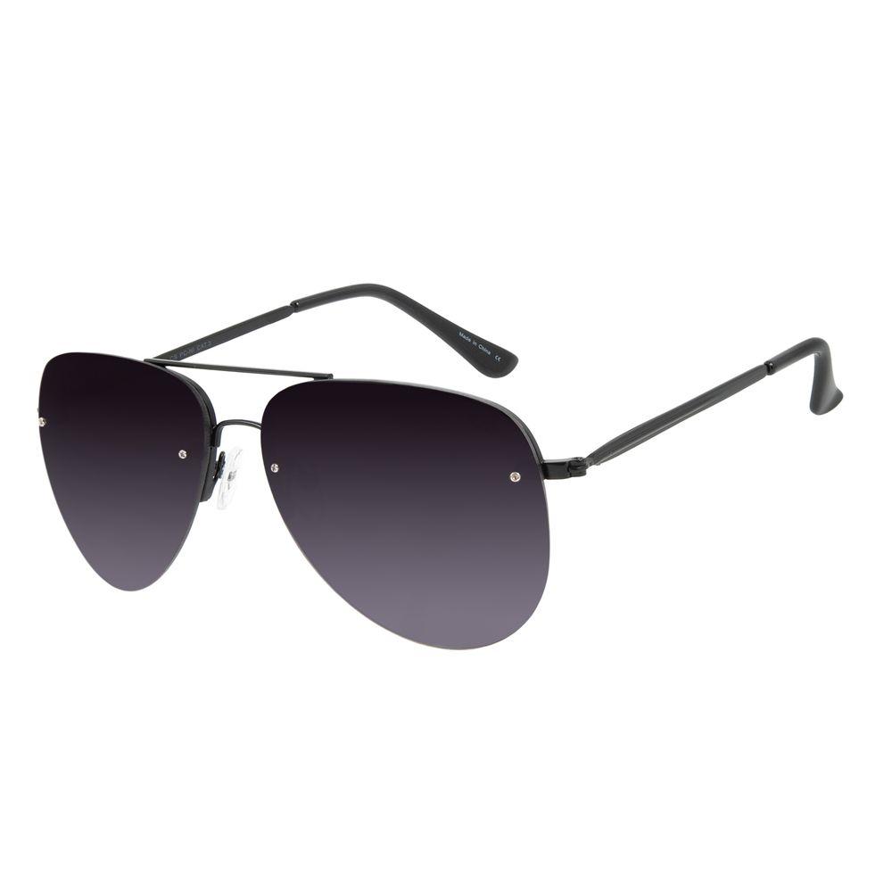 Óculos de Sol Unissex Chilli Beans Aviador Fosco Metal Brilho OC.MT.2814-2031