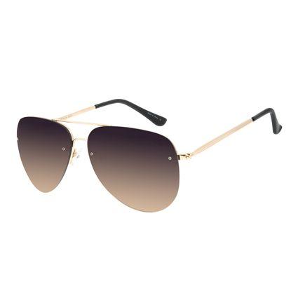 Óculos de Sol Unissex Chilli Beans Aviador Degradê Metal Brilho OC.MT.2814-2021