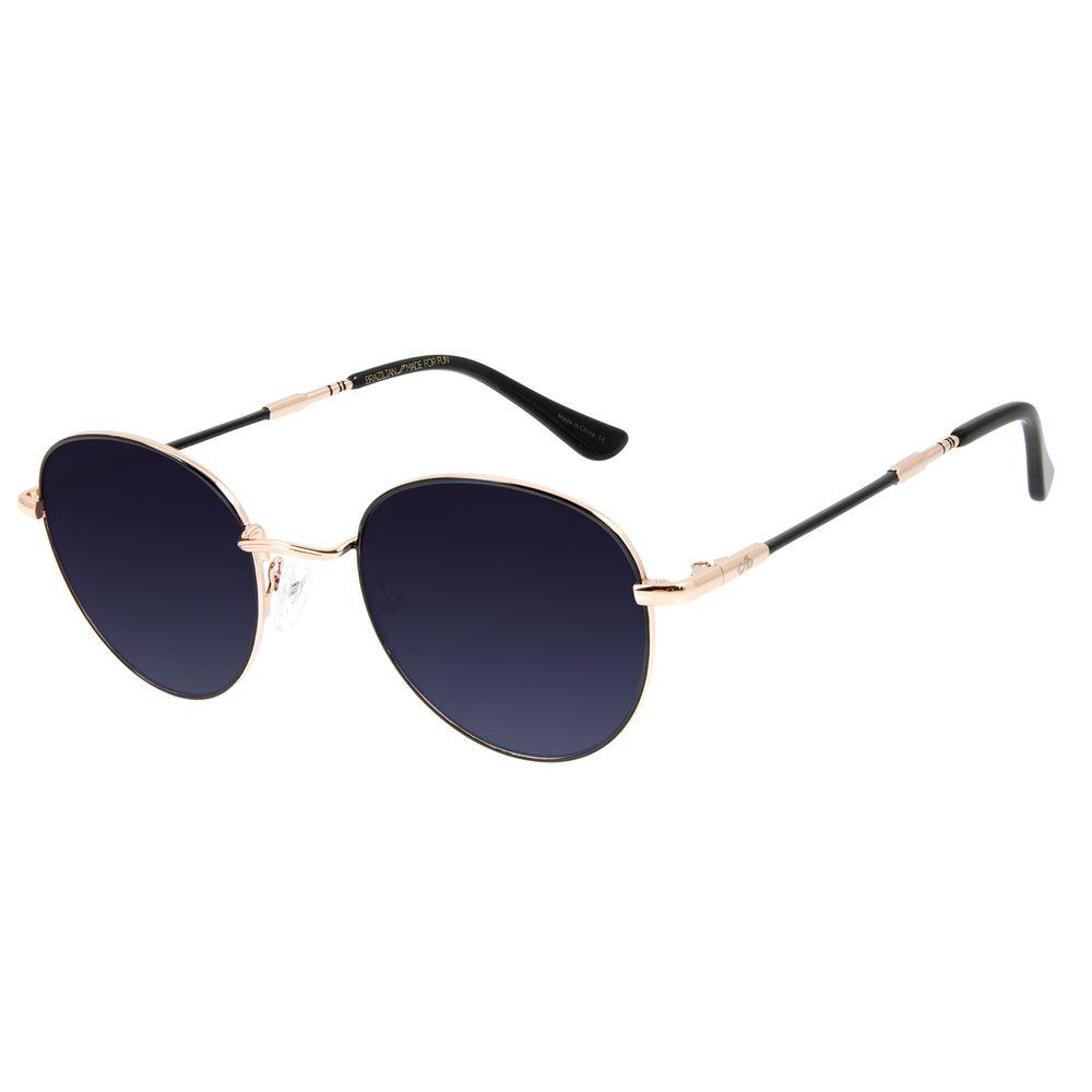 Óculos de Sol Unissex Chilli Beans Redondo Plug Metal Rosê OC.MT.2860-2095