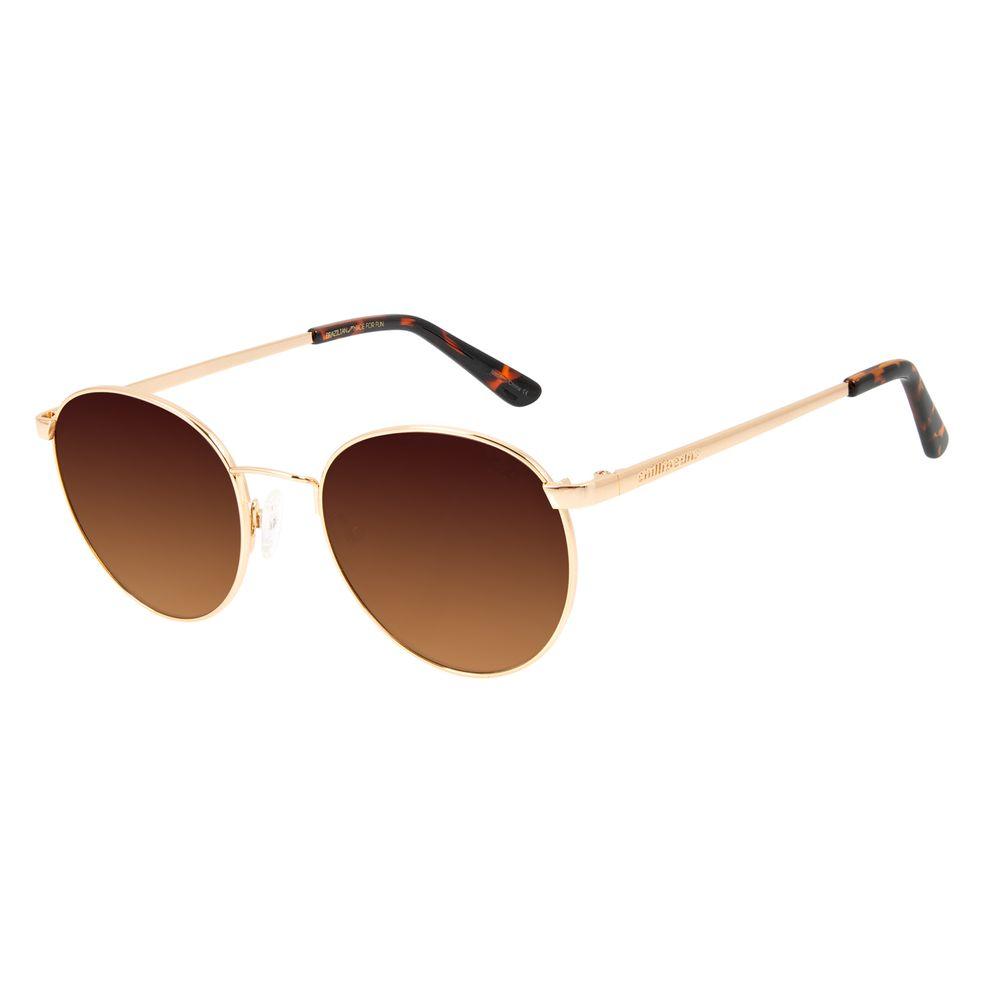 Óculos de Sol Unissex Chilli Beans Redondo Rosé Metal Brilho OC.MT.2862-5795