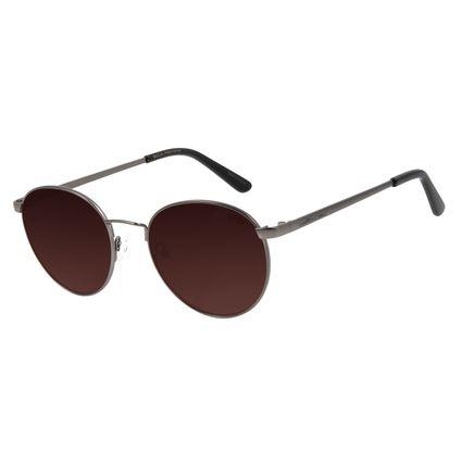 Óculos de Sol Unissex Chilli Beans Redondo Ônix Metal Brilho OC.MT.2862-5722