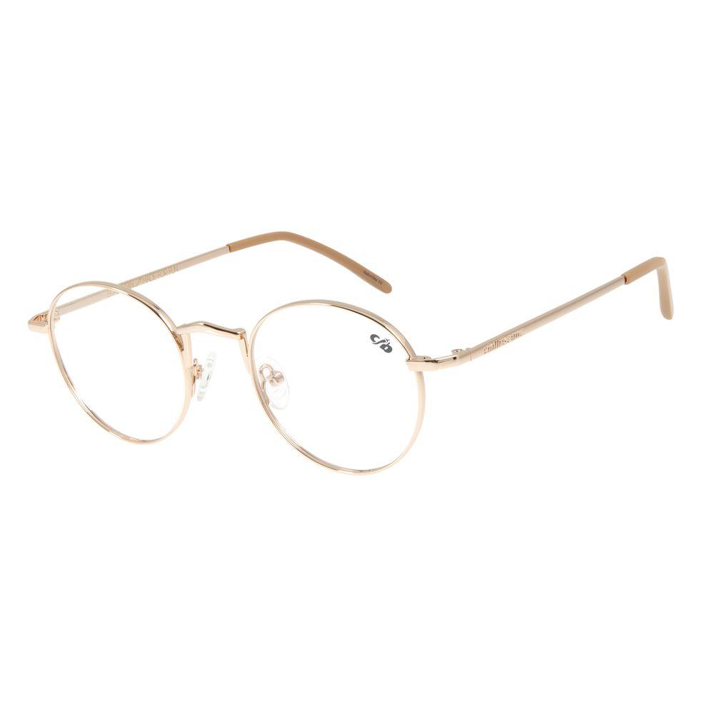 Armação Para Óculos de Grau Unissex Chilli Beans Banhado A Ouro Dourado Claro LV.MT.0391-6464