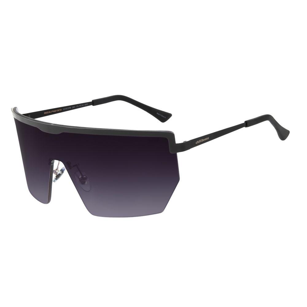 Óculos de Sol Unissex Matheus Mazzafera Máscara Preto OC.MT.2789-2001