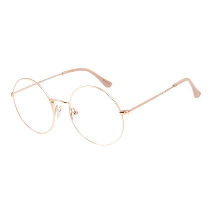 Armação Para Óculos de Grau Feminino Chilli Beans Metal Redondo Casual Rose LV.MT.0419-9595